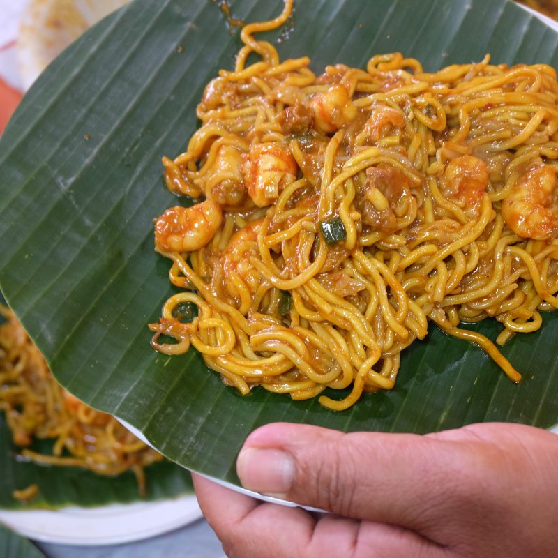 Mie Razali with Shrimp